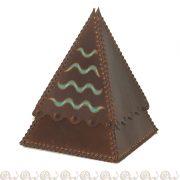 cofanetto cuoio piramide onde