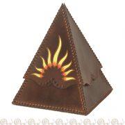 cofanetto cuoio piramide sole