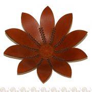 svuotatasche cuoio fiori