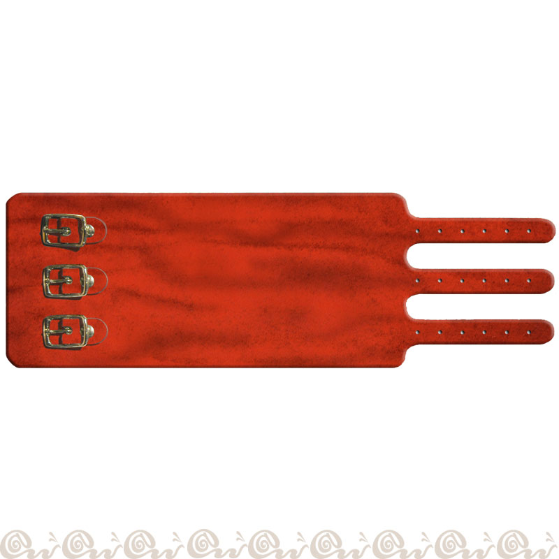 Bracciale cuoio 3 fibbie 7 cm