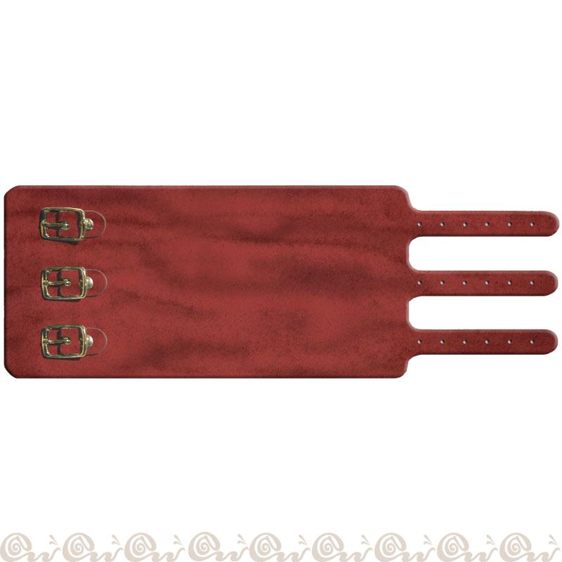 Bracciale cuoio 3 fibbie 8 cm