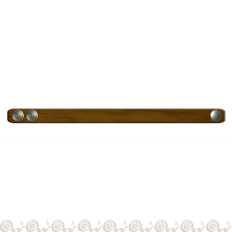 Bracciale cuoio clip 1 cm