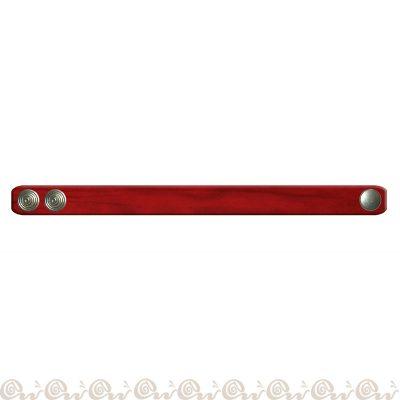 bracciale cuoio clip 1,5 cm