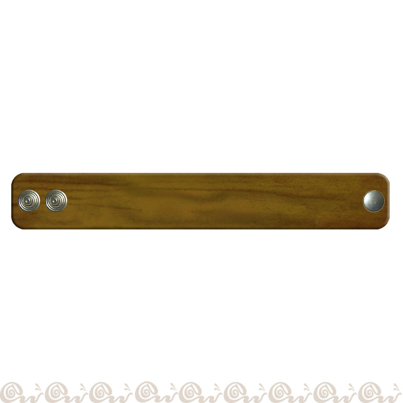 Bracciale cuoio clip 3 cm