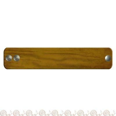 bracciale cuoio clip 4 cm