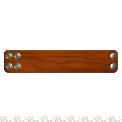 bracciale cuoio 2 clip 4 cm