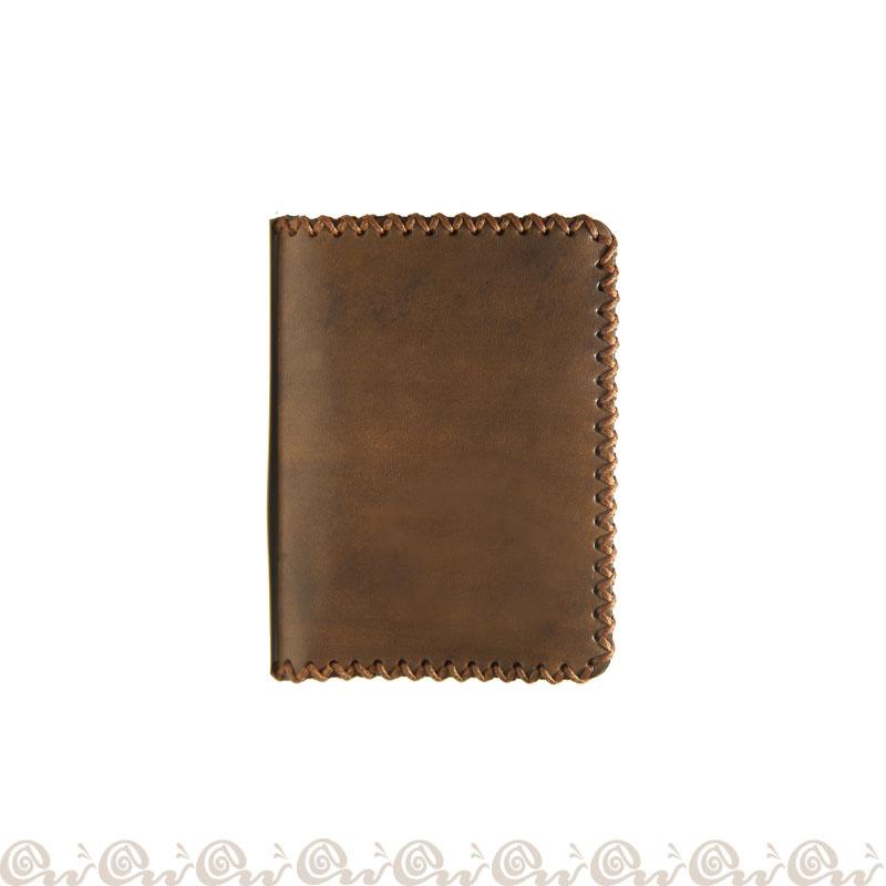 Porta Carte Credito Modello A Libro Realizzato In Cuoio In