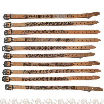 bracciali crosta decorati 1,0 cm