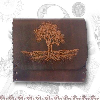 porta monete con albero