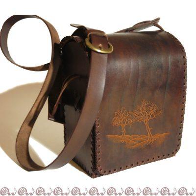 borsa con alberi