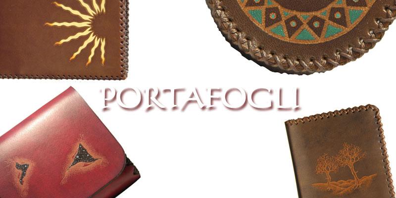 portafoglio personalizzato in cuoio