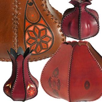 vasi in cuoio personalizzati