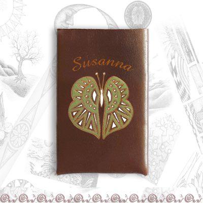 copripacchetto personalizzato con farfalla e nome