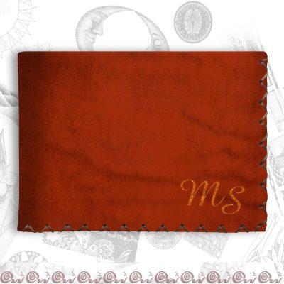 portafoglio classico con iniziali