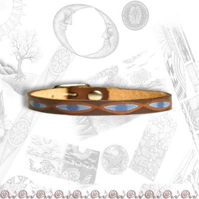 bracciale cuoio fibbia 0,7 cm