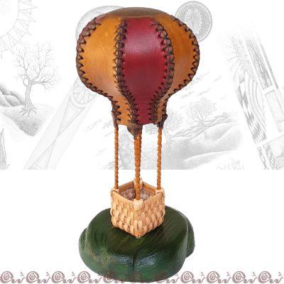regalo personalizzato mongolfiera in cuoio