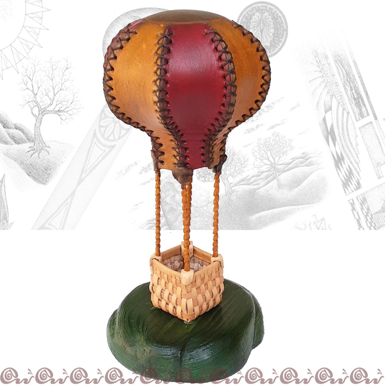 Regalo personalizzato: mongolfiera in cuoio