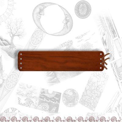 bracciale cuoio 4 cm con laccio